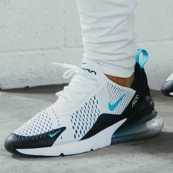 newest 156d2 4fcdd Nike air max 270 white black blue dusty cactus